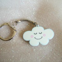 Acrylic Happy Cloud Keychain - Kawaii Keyring - Flossy The Cloud - Hoobynoo World | Luulla