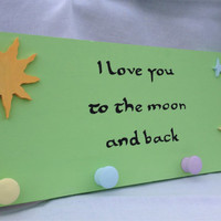 I love you to the moon and back childrens decor, childrens coat rack