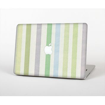 The Shades of Green Vertical Stripes Skin Set for the Apple MacBook Air 13""