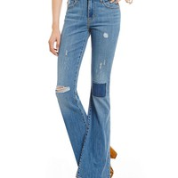 Levi´s High-Rise Destructed Flared Jeans | Dillards