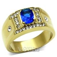 Mens Ion Gold Montana Glass Ring - 06752