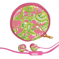 Lilly Pulitzer Earbuds and Pouch - Chin Chin