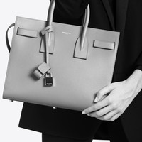 SAINT LAURENT CLASSIC SMALL SAC DE JOUR BAG IN FOG GRAINED LEATHER | YSL.COM