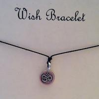 Ohm Wish Bracelet Karen Hill Charm by Jennasjewelrydesign on Etsy