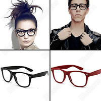 Fashion Lovely Unisex Clear Lens Wayfarer Nerd Geek Glasses cute = 1646027716