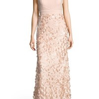 Adrianna Papell Petal Tulle Halter Gown | Nordstrom