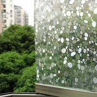 3D Static Cling Removable Window Film Stained Pebble Glass Sticker Bathroom Slide Door 45x100cm Gift