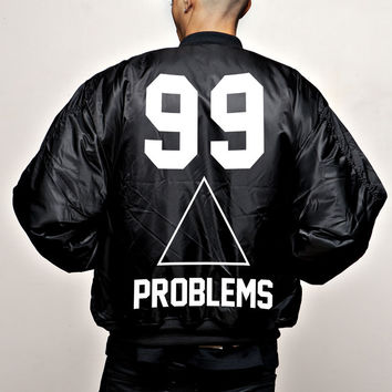 """JAY-Z 99 PROBLEMS """"BOMBER"""" LIMITED EDITION 