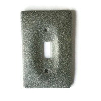 Silver Glitter Resin Light Switch Cover / Plate