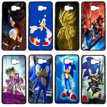 Sonic the Hedgehog Series Mobile Phone Case Hard Palstic Cover for Samsung Galaxy S8 S9 Plus S3 S4 S5 Mini S7 S6 Edge Plus Shell