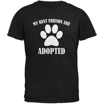 DCCKJY1 My Best Friends Are Adopted Black Adult T-Shirt