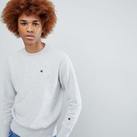 Champion Sweatshirt With Small Logo In Gray at asos.com