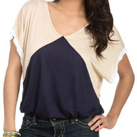 Colorblock Bubble Top - Teen Clothing by Wet Seal