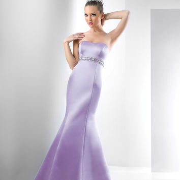 Bari Jay Bridesmaids 129 Long Satin Dress