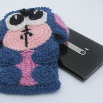 Donkey Eeyore crochet case, sleeve, cover for iPhone, iPod touch or any other phone