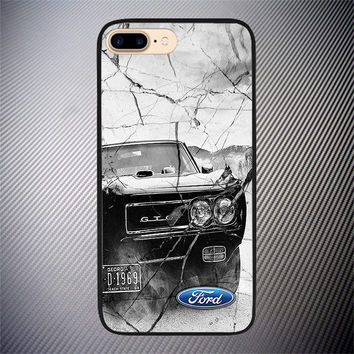 Ford Mustang Crack Marble High Quality Case For iPhone 6 6s Plus 7 8 Plus Cover