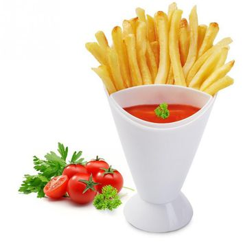 Kitchen Restaurant Potato Tool Tableware French Fry Chips Cone Salad Dipping Cup Assorted Sauce Ketchup Jam Dip Cup Bowl