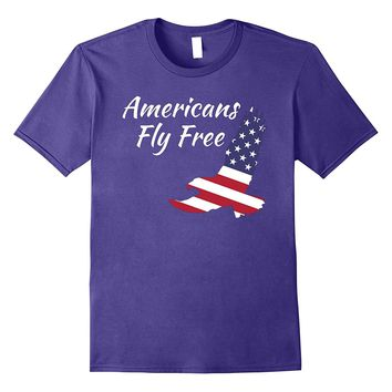 Americans Fly Free Eagle T-Shirt Bald Eagle Freedom Tee