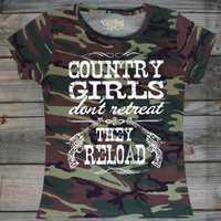 Women's Country Girl's ™™ Reload Pink Camo T-shirt