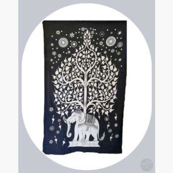 Elephant Tree of Life Tapestry