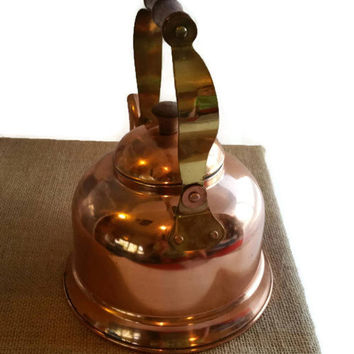 Copper teapot 1970s vintage, 33% off, clearance