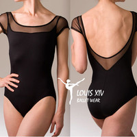 Louis xiv ballet coverall leotard elastic gauze chicken wings classic black