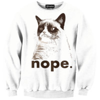 Grumpy Cat Nope Crewneck