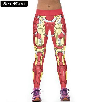 SexeMara Legging New 3D Galaxy Printed Legging Fitness Women Leggings Sexy Pants Red Girls Leggings Joggers Women Clothes F803