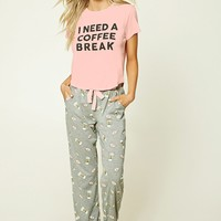 I Need A Coffee Break PJ Set