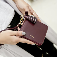 Ladies Leather Korean Vintage Tassels Zippers Wallet [6581012359]