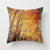 OCTOBER'S SONG Throw Pillow by Christina Williams