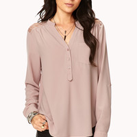 Essential Lace Paneled Top