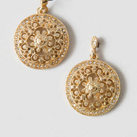 PARIS CRYSTAL FILIGREE DROP EARRINGS