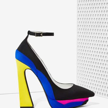 Jeffrey Campbell Power Cut Platform Heel - Neon