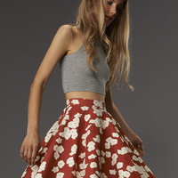 Reading Skirt-Poppy Love Canvas - VauteCouture