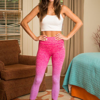 Hop In The Karma Yoga Crop Pants, Pink-Purple