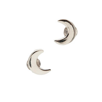 Fashionology Earpins Halfmoon in Silver