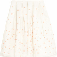 Holly Fulton - Embellished embroidered silk-organza skirt
