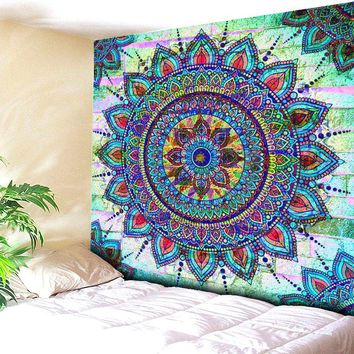 Beach Towel Throw Tapestry Beach Yaga Bedspread Towel Blanket Rug Bohemian Indian  Mandala Brick Wall Tapestry Hanging Carpet