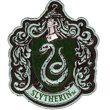 Harry Potter House of Slytherin Hogwarts Crest Patch 4 3/4""