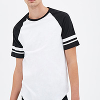 Varsity-Striped Raglan Tee