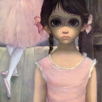 Big Eyes | Vintage Print Photo | 1963 RELUCTANT BALLERINA | Margaret Keane | Walter Keane