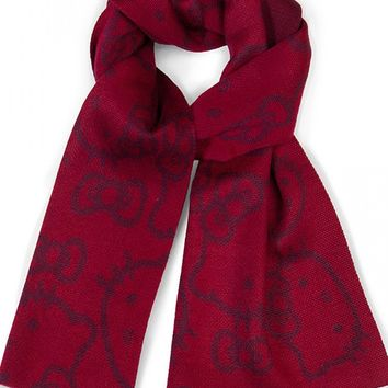 """""""Hello Kitty"""" Scarf by Loungefly (Red)"""
