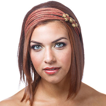 Beaded headband, red and gold headband, sparkle headband, red headband, headbands for women, headbands