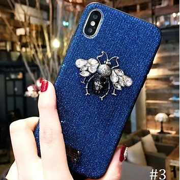 Bee flash powder for men and women iphoneX mobile phone case cover F0840-1 #3