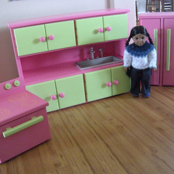 Kitchen Furniture Set for American Girl Doll or 18-inch Doll