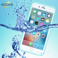 KISSCASE 360 Full Protective Waterproof Case For iPhone 7 8 Plus Touchable Screen Waterproof Cases For iPhone 5s 6s 7 Covers