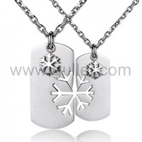 Engraved Couples Pendants Jewelry for Him and Her