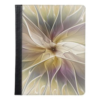 Floral Fantasy Gold Aubergine Abstract Fractal Art iPad Case