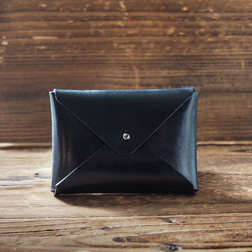 Leather Business Card Holder #Black